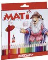 Карандаши 24цв. 3914 Mati fibracolor